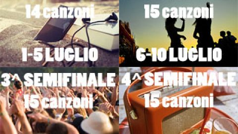 Summer Song Contest: canzoni divise in 4 semifinali