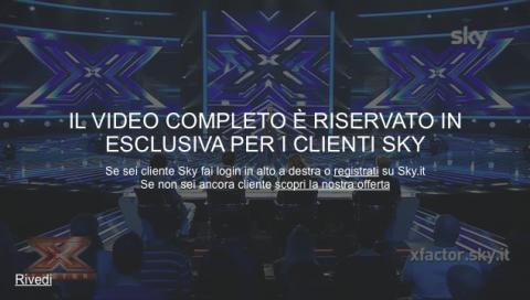 """""""L'anteprima del video sta per finire"""": a Sky piace fartelo annusare (l'X Factor)"""